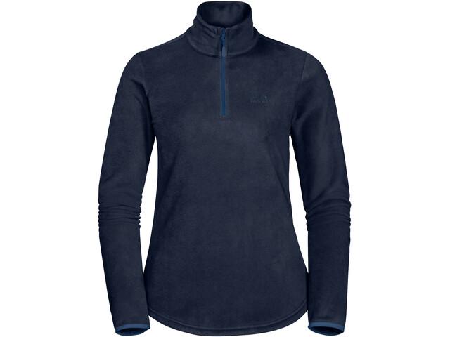 attraktive Mode heiß-verkaufendes spätestes Original- Jack Wolfskin Echo Fleece Pullover Damen midnight blue